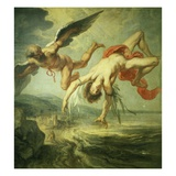 The Fall of Icarus 195X180Cm Giclee Print by Jacob Peter Gowy
