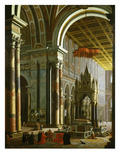 Church of St Paul, Interior, Rome, 1682 (Inv 158) Giclee Print by Pierre Garoli