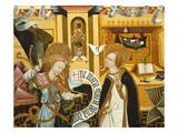 Annunciation, Verdu Retable, 1430-61, Llieda School, Detail Giclee Print by Jaime Ferrer