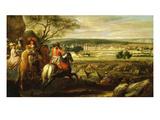 Vue Du Château De Fontainebleau En 1669, Avec Louis XIV Et Marie-Thérèse Giclee Print by Adam Frans van der Meulen