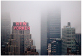 New Yorker Building in Fog NYC Reprodukcje