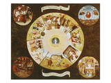 Table-Top with the Seven Deadly Sins Premium Giclee Print by Hieronymus Bosch