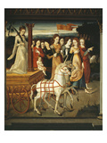 Allegory of Chastity, Inspired by a Tale of Petrarch, Italianate Mural Painting, Mid 16th Century Giclee Print by  Italian School