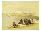 The Pyramids at Giza, Egypt, Lithograph, 1838-9 Giclée-Druck von David Roberts