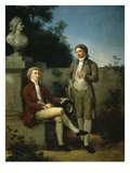 Two Young Men in a Garden Giclee Print by Enrico Coleman
