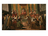 City of Genoa, Italy, Proclaiming as its Protector Alfonso, 1396-1458 Giclee Print by Belisario Corenzio