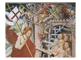 Christ Extracts Adam and Eve from Hell, Descent into Hell, Scene from Christ's Passion Giclee Print by Giovanni Canavesio