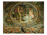 Geometry, Medallion, Chambre Des Arts (Room of the Arts) Giclée-tryk af Francesco Primaticcio