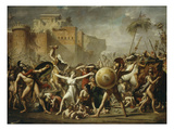 Les Sabines, 1799 (Sabine Women) Giclee Print by Jacques-Louis David