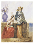 Mexican Women, Watercolour by Mathilde De La Borde, 1835 Giclee Print