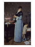 The Mother Reproduction procédé giclée par Silvestro Lega