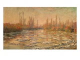 Débâcle Sur La Seine Ou Les Glaçons, Thawing of River Seine, or Ice Floe Breaking Up Giclee Print by Claude Monet