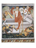 The Resurrection, Scene from Christ's Passion, Fresco, 1492 Giclee Print by Giovanni Canavesio