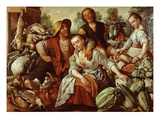 Country Market, 1566 Giclee Print by Joachim Beuckelaer