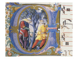 The Parable of the Barren Fig Tree, Letter Miniature, from Book of Religious Music Giclee Print by  Liberale Da Verona