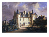 Logis Du Roi, King's Residence at Château D'Amboise, Built 15th Century, Painted C. 1840 Giclee Print by Gustave Joseph Noel