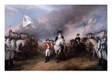 Surrender of General Lord Cornwallis at Yorktown, 19 October 1781, Painted 1820. Premium Giclee Print by John Trumbull