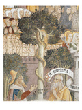 Tree of Life, Last Judgement, Fresco, 1492, Detail Giclee Print by Giovanni Canavesio