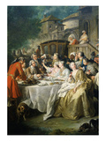 Hunt Luncheon (Un D&#233;jeuner De Chasse), 1737 Giclee Print by Jean Francois de Troy