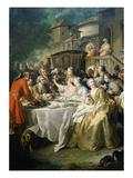 Hunt Luncheon (Un Déjeuner De Chasse), 1737 Giclee Print by Jean Francois de Troy