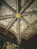 Ceiling, Mid 16th Century Studiolo Fotografisk tryk af Italian School