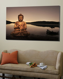 Golden Buddha Lakeside Prints by Jan Lakey