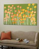 Green Wild Flowers Posters av  Avalisa
