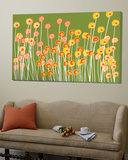 Green Wild Flowers Prints by  Avalisa