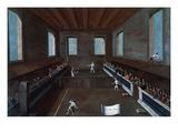 Palla Corda or Giocco Della Racchetta (Real Tennis Variant) Venice, Italy Giclee Print by Gabriele Bella