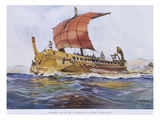 5th Century BC Greek Ship, Watercolour Reconstruction, Late 19th - Early 20th Century Giclee Print by Albert Sebille