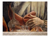 Carafe and Glasses, with Hand of Saint Simon, from the Last Supper, Fresco C.1444-50 (Detail) Giclee Print by Andrea Del Castagno