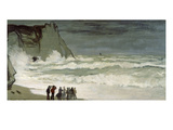 Grosse Mer À Etretat, Heavy Seas at Etretat, France, 1872 Giclee Print by Claude Monet