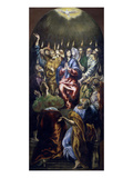 Pentecost, Panel from Altarpiece Commissioned for the Colegio De Dona Maria De Aragon in Madrid Giclee Print by El Greco
