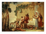 Peasant Meal, 1757 Fresco Giclee Print by Giambattista Tiepolo