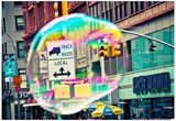 Bubble Floating in NYC Posters