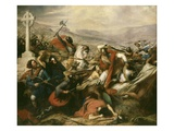 Battle of Tours (Also Called the Battle of Poitiers), France, 25 October 732 Premium Giclee Print by Charles Auguste Steuben