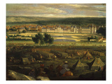 Military Camp, from Vue Du Château De Fontainebleau En 1669, with Louis XIV, 1638-1715 Giclee Print by Adam Frans van der Meulen