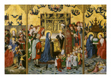The Adoration of the Magi; Christ's Presentation in the Temple; Christ Appearing to the Virgin Mary Giclee Print by Mast of the Holy Kinship