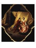 Paolo and Francesca (Da Rimini, 13th Century Italian Beauty Who Had an Adulterous Love Affair) Giclee Print by Angelo Inganni
