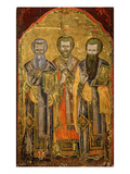 The Evangelists of Cappadocia Saint Gregory Nazianzus, St John Chrysostom, St Basil the Great Giclee Print by Icon