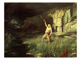 Siegfried, Hero of the Ring of the Nibelungen Opera Cycle by Richard Wagner, 1813-83 Giclee Print by Hermann Hendrich