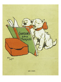 Pair of Cats, from Cover of Chansons Sans Paroles, Songs Without Words, Album, 1900 Giclee Print by Cecil Aldin