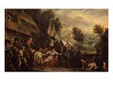 Kermesse (Village Wedding) in Flanders Giclee Print by Cornelis Dusart