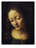 The Virgin of the Rocks Detail of Virgin Giclee Print by  Leonardo da Vinci