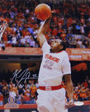 Kris Joseph Syracuse White Jersey Dunk Autographed Photo (Hand Signed Collectable) Photographie