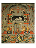 Grotesques and Animal Decoration, Chambre Des Arts (Room of the Arts) Giclée-tryk af Francesco Primaticcio
