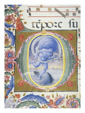 Aeolus, Wind God, Letter or Initial O, Miniature, from Book of Religious Music, Fol 36v Giclee Print by Liberale Da Verona