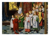 Choirboys in Procession, from Christ's Presentation in the Temple, Central Part of Altarpiece Giclee Print by Mast of the Holy Kinship