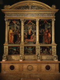 Altarpiece of Saint Zeno, with Saints Peter, Paul, John the Evangelist, Zeno Photographic Print by Andrea Mantegna