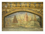 The Pyramids, Fresco, 1669-70 Giclee Print by Nikolas Schiel